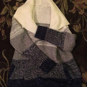 ModCloth Drapey Marled Colorblock Cardigan, New